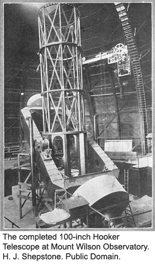 Completed 100-inch Hooker Telescope
