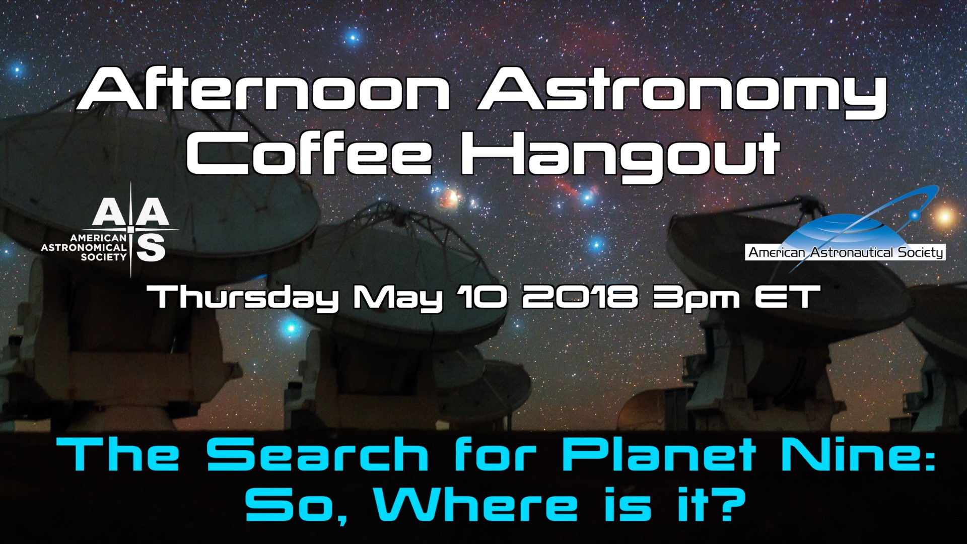 Afternoon Astronomy Coffee Hangout