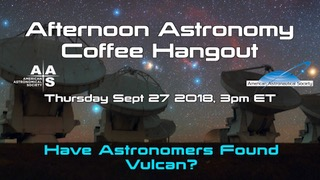 Afternoon Astronomy Coffee Hangout 27 September