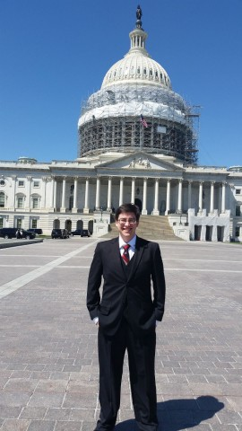 Kevin Cooke in front of the Capitol